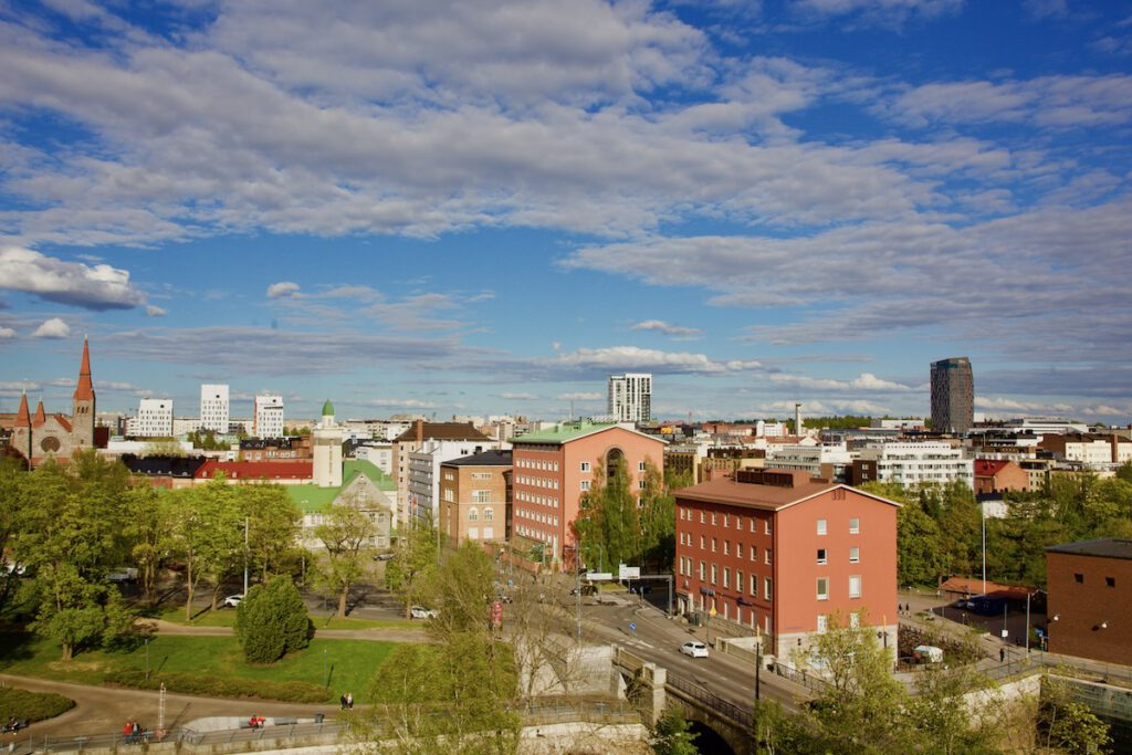 Views of Tampere City / Roof walk Finlayson